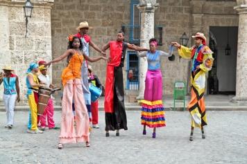 Street dancers in Havana. Cuba